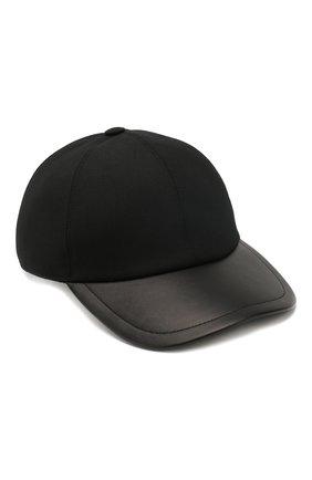 Мужской шерстяная бейсболка BRIONI черного цвета, арт. 04760L/P9AE7 | Фото 1