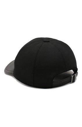Мужской шерстяная бейсболка BRIONI черного цвета, арт. 04760L/P9AE7 | Фото 2