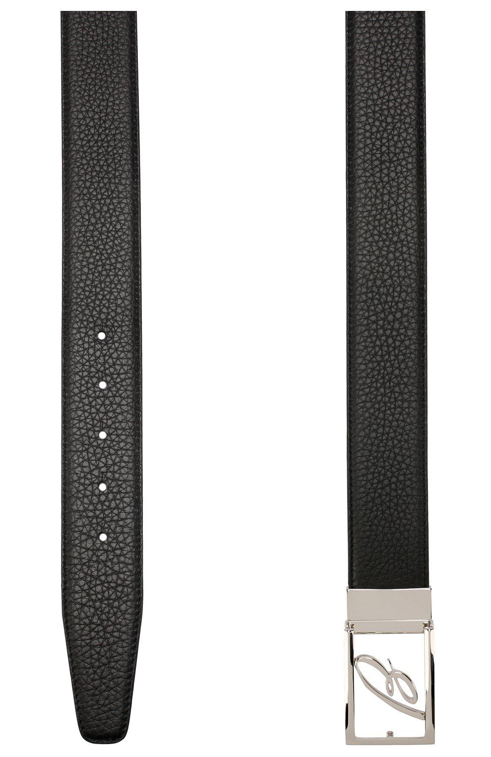 Мужской кожаный ремень BRIONI черного цвета, арт. 0BAS0L/P9740 | Фото 2
