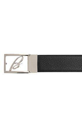 Мужской кожаный ремень BRIONI черного цвета, арт. 0BAS0L/P9740 | Фото 3