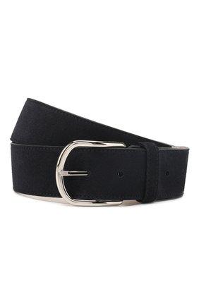 Мужской кожаный ремень BRIONI темно-синего цвета, арт. 0BAT0L/P3711 | Фото 1