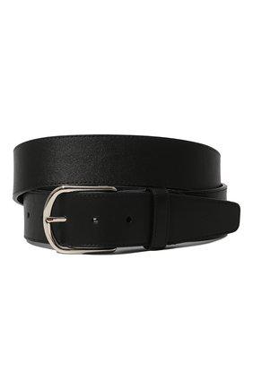 Мужской кожаный ремень BRIONI черного цвета, арт. 0BAT0L/P9721 | Фото 1
