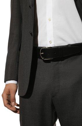 Мужской кожаный ремень BRIONI черного цвета, арт. 0BAT0L/P9721 | Фото 2