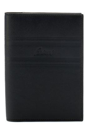 Мужская кожаная обложка для паспорта BRIONI темно-синего цвета, арт. 0HSX0L/P9721 | Фото 1