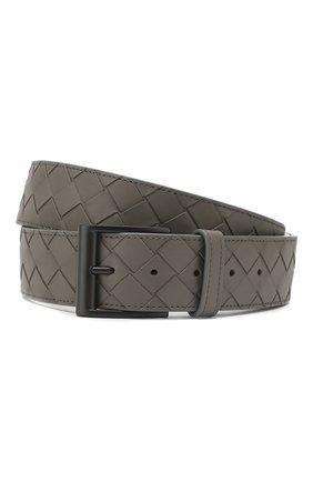 Мужской кожаный ремень BOTTEGA VENETA серого цвета, арт. 609183/VCPQ3 | Фото 1