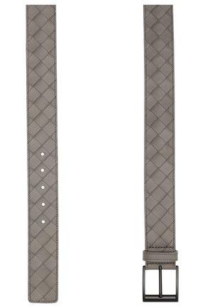 Мужской кожаный ремень BOTTEGA VENETA серого цвета, арт. 609183/VCPQ3 | Фото 2