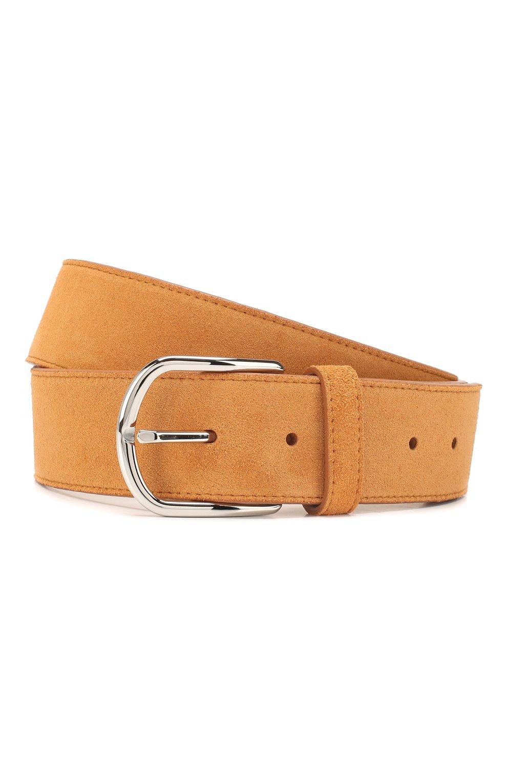 Мужской кожаный ремень BRIONI оранжевого цвета, арт. 0BAT0L/P3711 | Фото 1