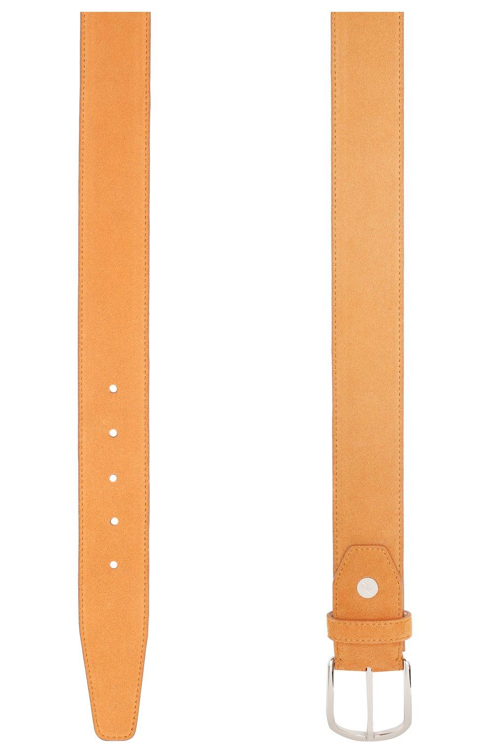 Мужской кожаный ремень BRIONI оранжевого цвета, арт. 0BAT0L/P3711 | Фото 2