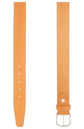 Мужской кожаный ремень BRIONI желтого цвета, арт. 0BAT0L/P3711 | Фото 2
