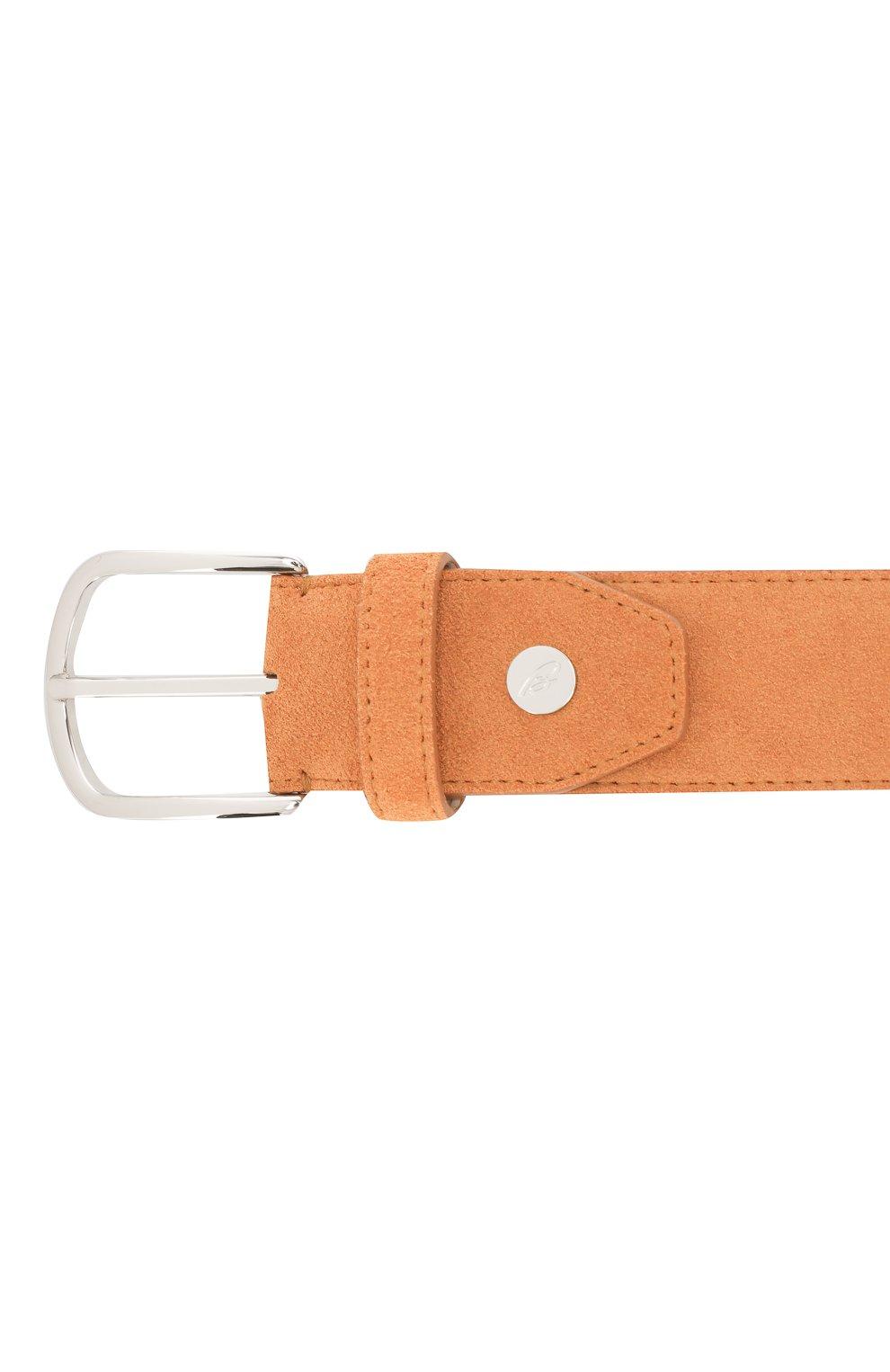 Мужской кожаный ремень BRIONI оранжевого цвета, арт. 0BAT0L/P3711 | Фото 3