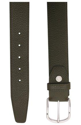 Мужской кожаный ремень BRIONI темно-зеленого цвета, арт. 0BAT0L/P7731   Фото 3