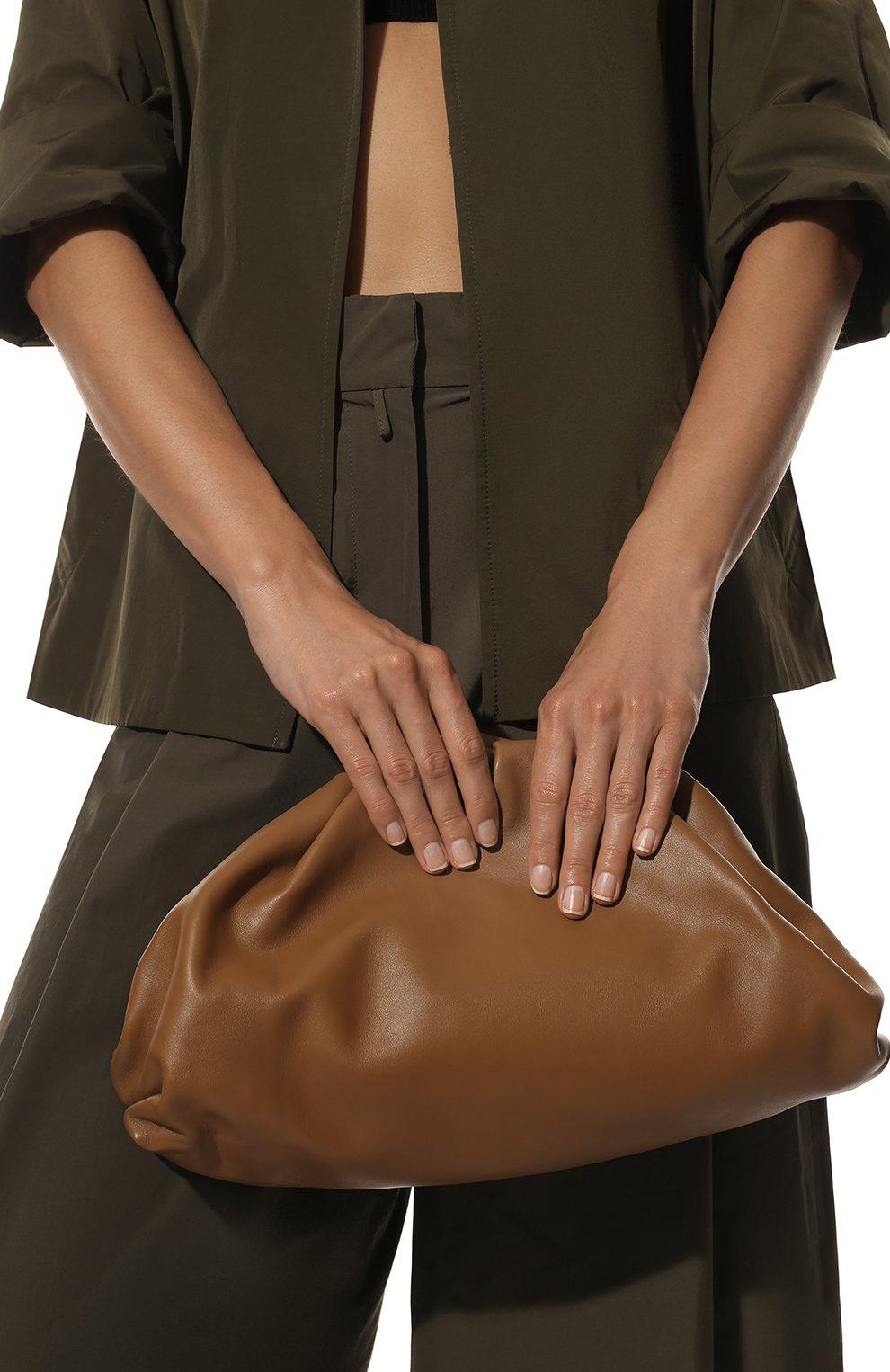 Женский клатч pouch BOTTEGA VENETA бежевого цвета, арт. 576227/VCP40   Фото 2
