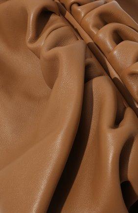 Женский клатч pouch BOTTEGA VENETA бежевого цвета, арт. 576227/VCP40   Фото 3