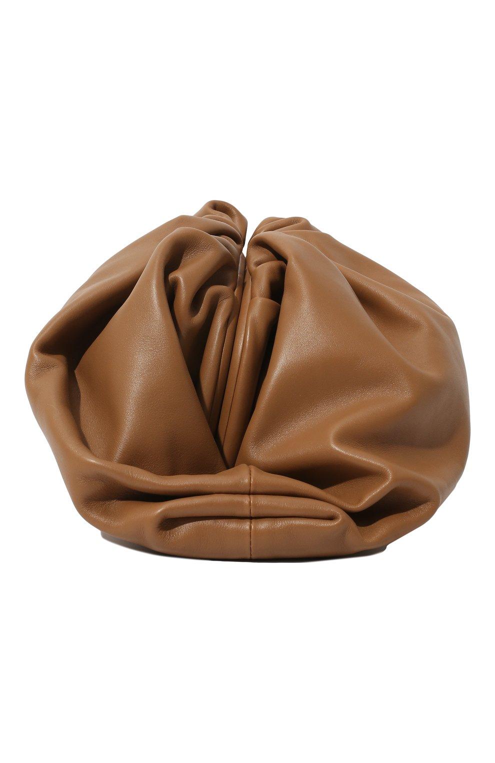 Женский клатч pouch BOTTEGA VENETA бежевого цвета, арт. 576227/VCP40   Фото 4