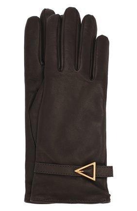 Женские кожаные перчатки BOTTEGA VENETA коричневого цвета, арт. 609754/3V542 | Фото 1