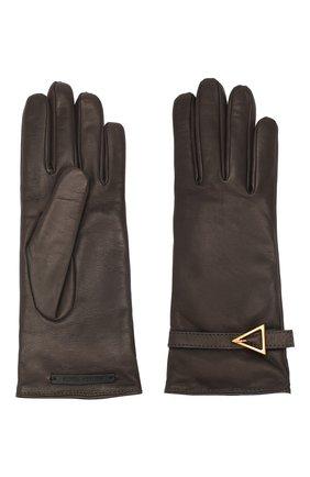 Женские кожаные перчатки BOTTEGA VENETA коричневого цвета, арт. 609754/3V542 | Фото 2
