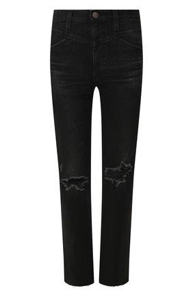 Женские джинсы AG черного цвета, арт. LBK1925RH/02YDSB   Фото 1