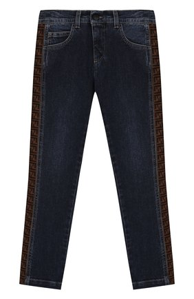 Детские джинсы FENDI синего цвета, арт. JMF247/AAC4/8A-12+ | Фото 1