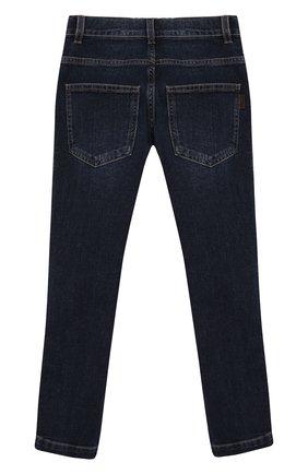 Детские джинсы FENDI синего цвета, арт. JMF247/AAC4/8A-12+ | Фото 2