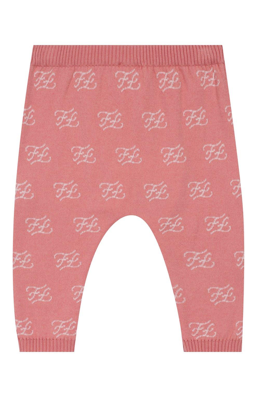 Детские хлопковые брюки FENDI розового цвета, арт. BUG042/A3TE/12M-24M | Фото 1