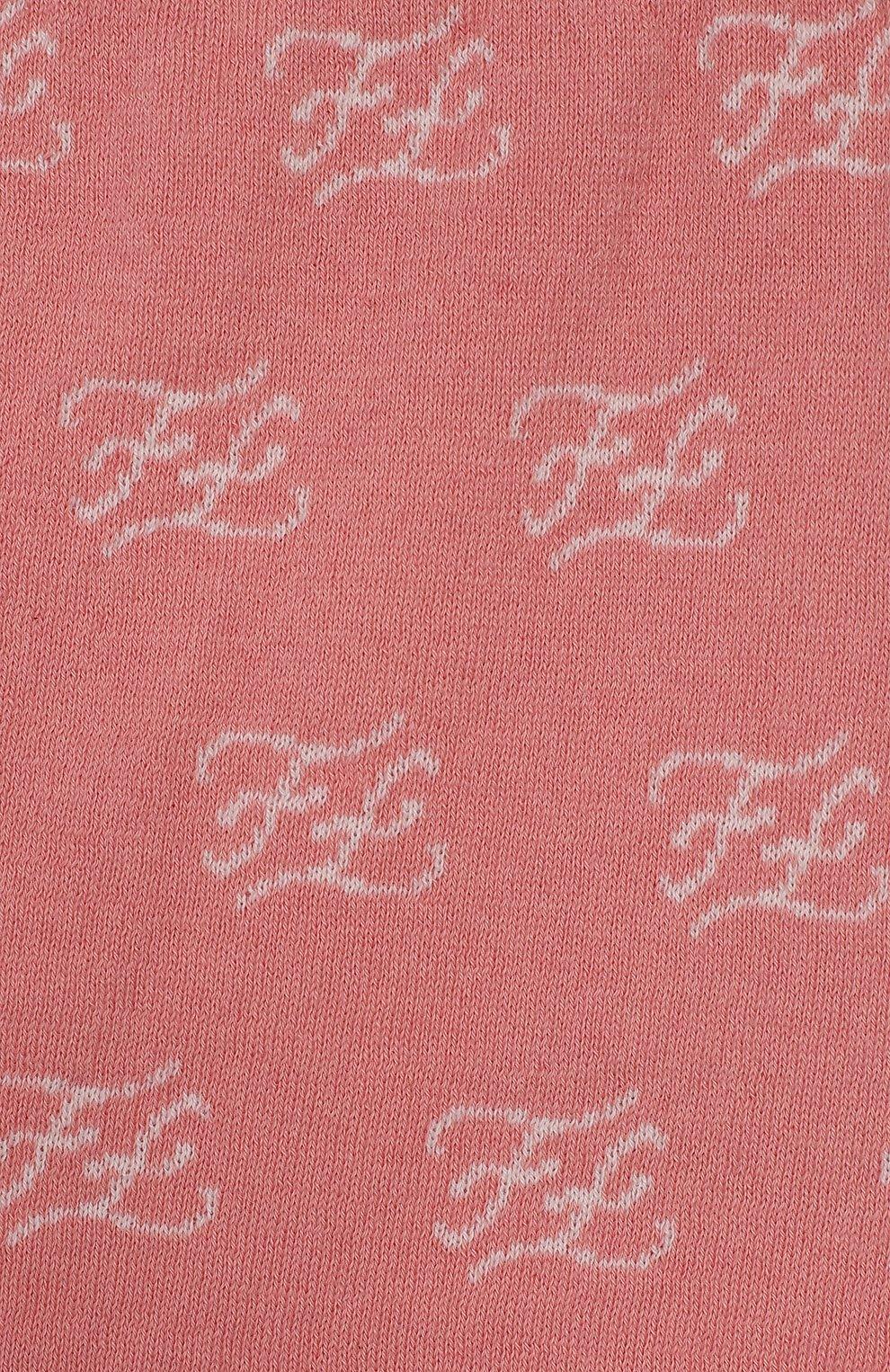 Детские хлопковые брюки FENDI розового цвета, арт. BUG042/A3TE/12M-24M | Фото 3