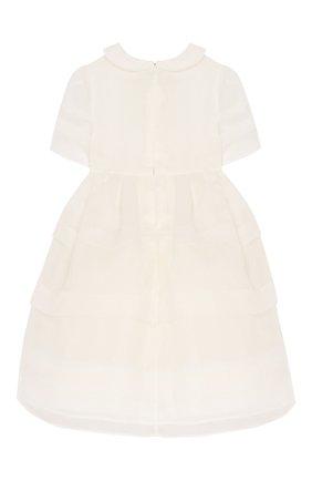Женский шелковое платье FENDI белого цвета, арт. BFB298/A6IW/12M-24M | Фото 2
