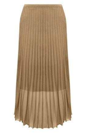 Женская плиссированная юбка VINCE бронзового цвета, арт. V634878345 | Фото 1