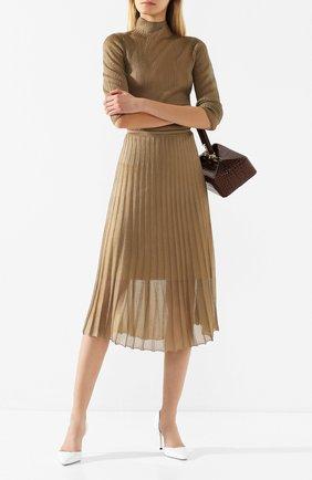 Женская плиссированная юбка VINCE бронзового цвета, арт. V634878345 | Фото 2