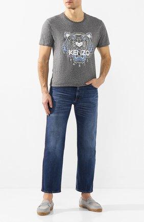 Мужские замшевые эспадрильи CASTANER серого цвета, арт. 021837 | Фото 2