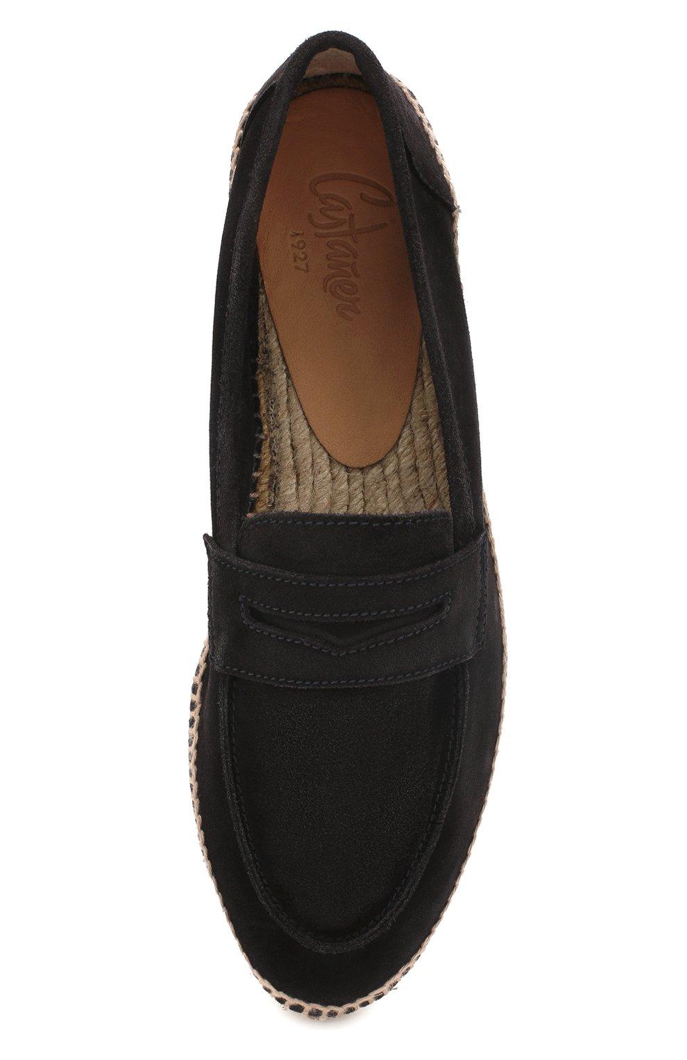 Мужские замшевые эспадрильи CASTANER черного цвета, арт. 021630 | Фото 5