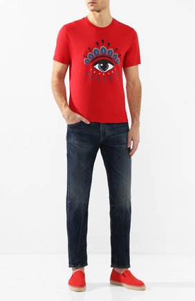 Мужские текстильные эспадрильи CASTANER красного цвета, арт. 021818 | Фото 2