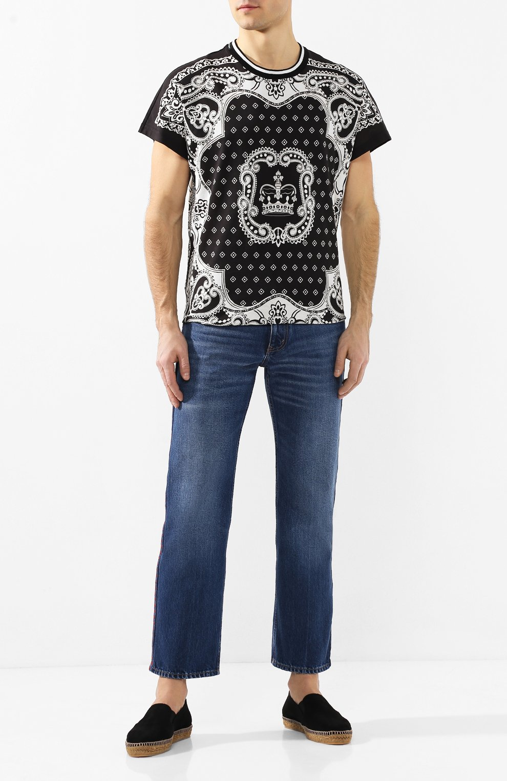 Мужские замшевые эспадрильи CASTANER черного цвета, арт. 021836 | Фото 2