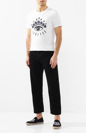 Мужские текстильные эспадрильи KENZO черного цвета, арт. F965ES188F70 | Фото 2
