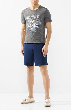 Мужские текстильные эспадрильи KENZO бежевого цвета, арт. F965ES188F70 | Фото 2