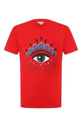 Мужская хлопковая футболка KENZO красного цвета, арт. FA55TS0494YC   Фото 1