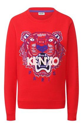 Женская хлопковый свитшот KENZO красного цвета, арт. FA52SW7054XA | Фото 1