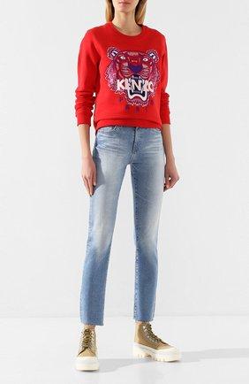Женская хлопковый свитшот KENZO красного цвета, арт. FA52SW7054XA | Фото 2