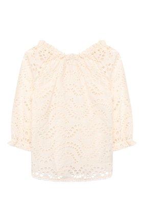Детское хлопковая блузка ZIMMERMANN белого цвета, арт. 6416TKIR | Фото 2