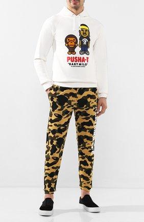 Мужской хлопковые джоггеры BAPE желтого цвета, арт. 1F80152001 | Фото 2