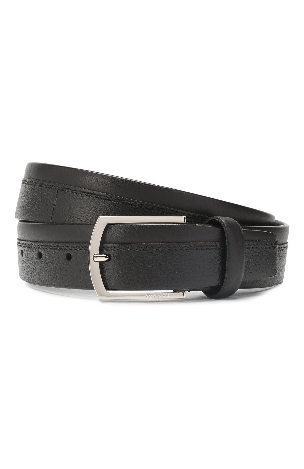 Мужской кожаный ремень BARRETT черного цвета, арт. 81B545.4/CERV0 | Фото 1