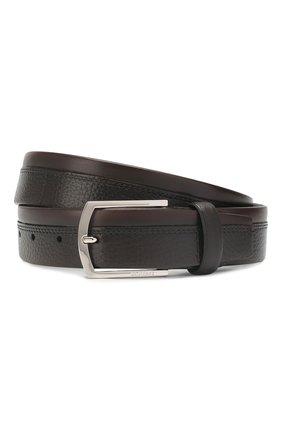 Мужской кожаный ремень BARRETT темно-коричневого цвета, арт. 81B545.3/CERV0 ASP0RTABILE | Фото 1