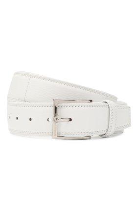 Мужской кожаный ремень BARRETT белого цвета, арт. 81B537.50/CERV0 | Фото 1