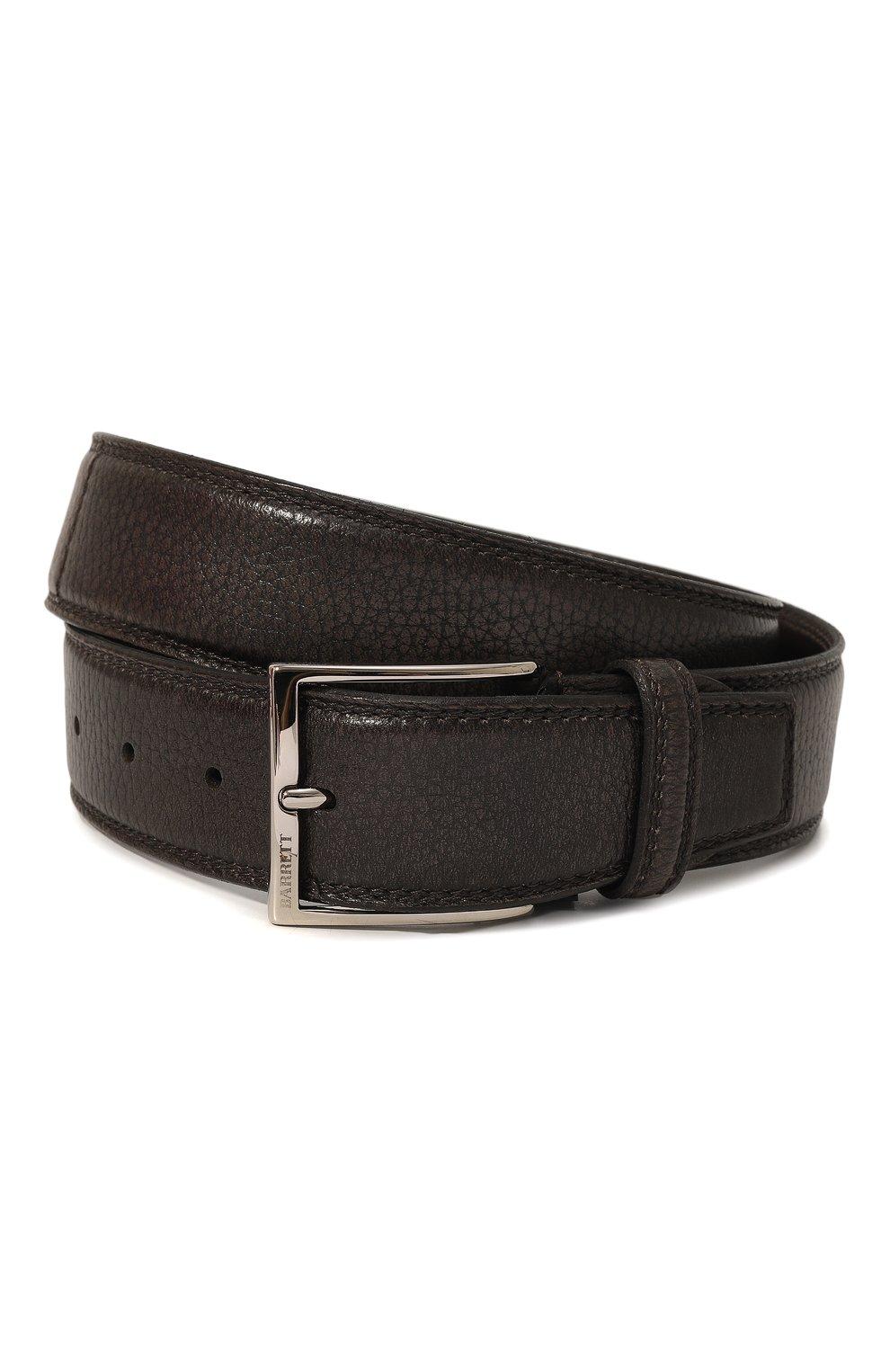 Мужской кожаный ремень BARRETT серого цвета, арт. 81B537.4/CERV0 ASP0RTABILE | Фото 1