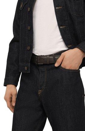 Мужской кожаный ремень BARRETT серого цвета, арт. 81B537.4/CERV0 ASP0RTABILE | Фото 2