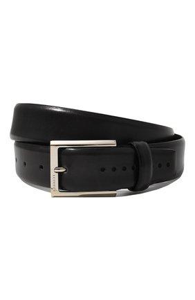 Мужской кожаный ремень BARRETT темно-серого цвета, арт. 31B336.27/BETIS CREAM | Фото 1
