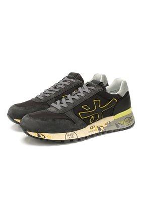 Мужские комбинированные кроссовки PREMIATA темно-серого цвета, арт. MICK/VAR4059 | Фото 1