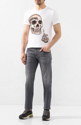 Мужские комбинированные кроссовки PREMIATA темно-серого цвета, арт. MICK/VAR4059 | Фото 2