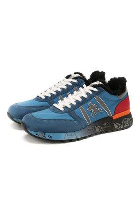 Мужские комбинированные кроссовки premiata x цум lander PREMIATA синего цвета, арт. LANDER/VAR4734 | Фото 1
