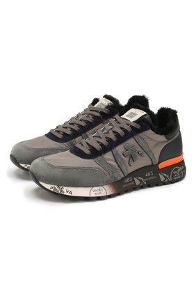 Мужские комбинированные кроссовки premiata x цум lander PREMIATA серого цвета, арт. LANDER/VAR4732 | Фото 1