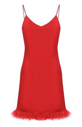 Женская шелковая сорочка LUNA DI SETA красного цвета, арт. VLST60567_9509 | Фото 1